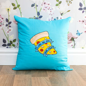 Love You More Than Pizza Cushion - gifts for him