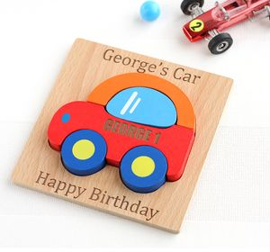 Personalised Car Wooden Puzzle - personalised gifts