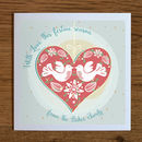 Personalised Heart Christmas Cards Pack Of Five