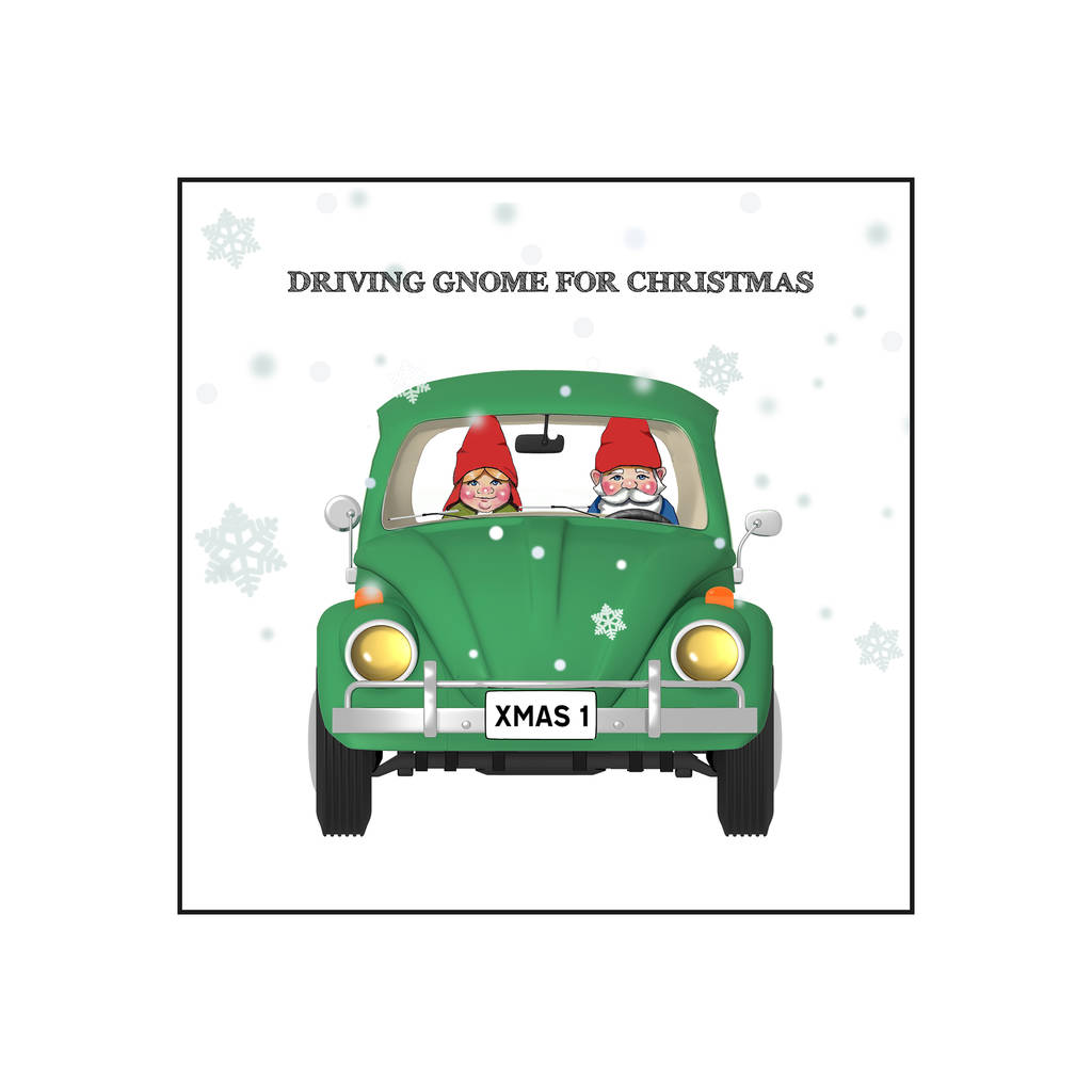 driving gnome for christmas\' card by of life & lemons ...