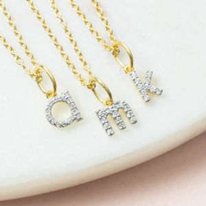 Monogram Mini Diamond Necklace - wedding jewellery