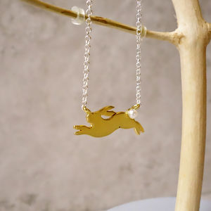 22ct Gold Rabbit Necklace