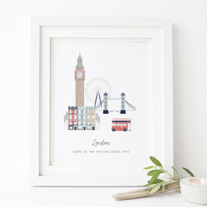 Personalised London City Print