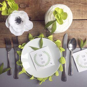 'Sow In Love' Wild Flower Seed Favours - weddings sale