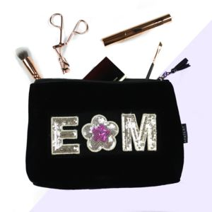 Personalised Velvet Beauty Bag
