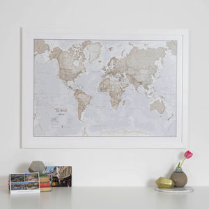 Map Of The World Art Print - canvas prints & art