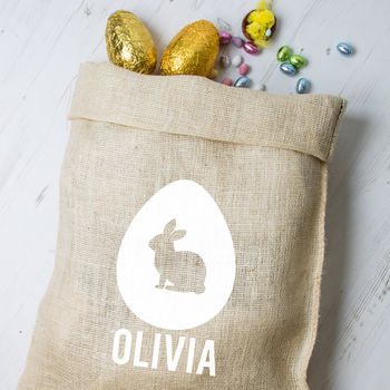 Personalised Easter Hessian Sack Bunnys - Bunny 1