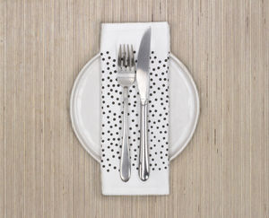 Monochrome Dotty Design Napkin Or Placemat