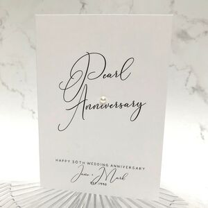 30th Pearl Jewel Personalised Anniversary Card