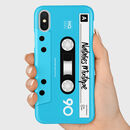 Personalised Mixtape Cassette Phone Case Blue