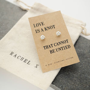 'Love Knot' Silver Earrings - love tokens