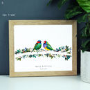 Bright Bird Couple Wedding Print