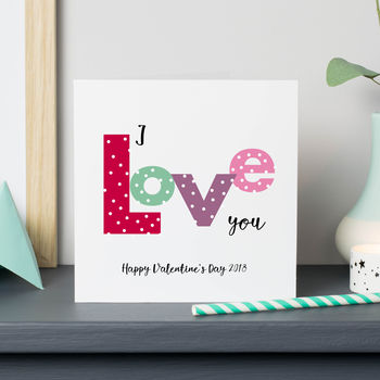 'I Love You' Valentine's Card