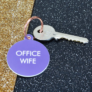 Office Wife Key Tag