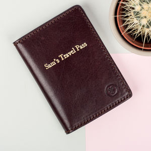 Personalised Handcrafted Leather Card Holder Wallet