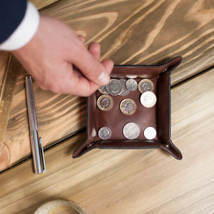 Personalised Vintage Coin Tray - mens