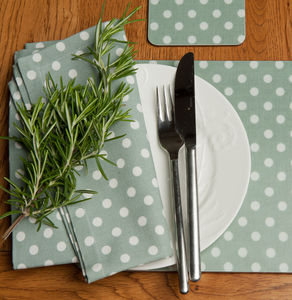 Madelaine Sage Set Of Four Placemats - tableware