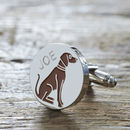 Daddy And Me Vizsla Cufflinks And Dog Tag Set