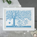 Personalised Our Family Tree Print