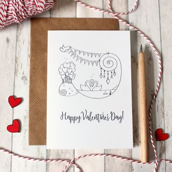 Personalised Valentine's Day Card With Illustrations