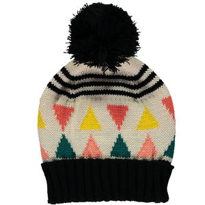 Triangle Beanie Cream - hats & fascinators