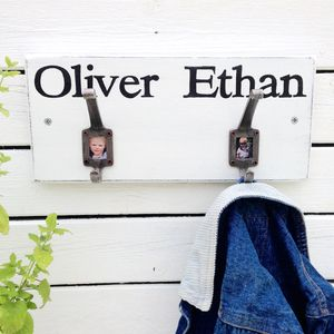Personalised Vintage Style Photo Coat Hooks