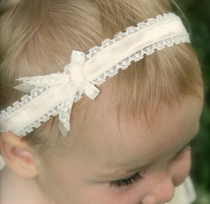 Darcy Silk And Lace Flower Girl Baby Headband - hair accessories