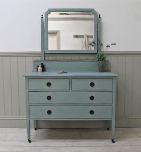 Vintage Painted Dressing Chest - furniture