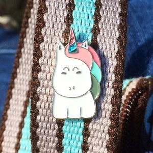 Cute Kawaii Unicorn Glitter Enamel Pin Badge