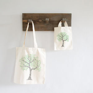 'Tree' Personalised Teacher Gift Or Tote Bag - totes