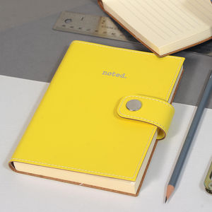 Coloured Recycled Leather Notebook