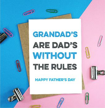 Grandad's Are Dad's Father's Day Card