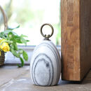 Onyx Grey Natural Marble Garden Door Stop