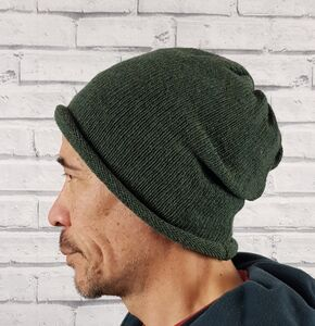 Eco Friendly Beanie Hat Greens