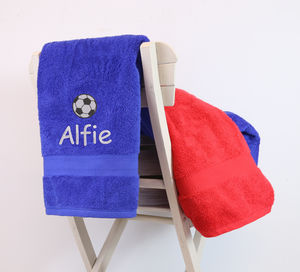 Kids Personalised Football Bath Towel - best gifts for boys
