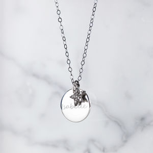 Personalised Diamond Star Necklace