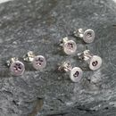 Tiny Dot Customised Silver Stud Earrings