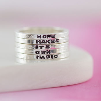 Personalised Sterling Silver Mini Stacking Rings
