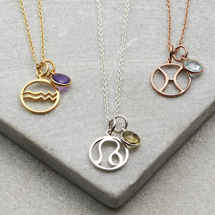 aquarius amethyst il february gold necklaces listing necklace jewelry zodiac birthstone au