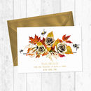 Autumn Floral And Bee Save The Dates