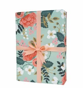 Floral Summer Bouquet Wrapping Paper Set Of Three - ribbon & wrap