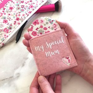 Pocket Mirror And Personalised Pouch - compact mirrors