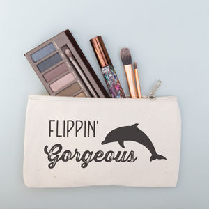 Personalised Dolphin Make Up Purse