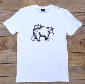 Bear And Cat Unicorn T Shirt