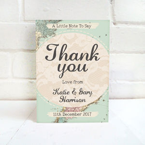Travel Inspired Wedding Thank You Card