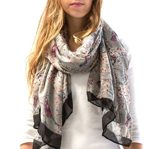 Personalised Faded Bird Print Scarf - secret santa gifts