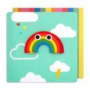 Birthday Rainbow Jelly Magnet Card
