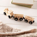 Personalised Christening Wooden Train