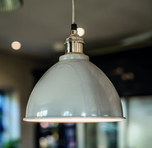 Grey Domed Pendant - lighting