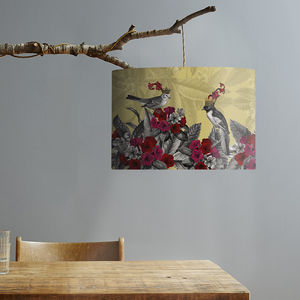 Blooming Birds Lampshade, Azalea - dining room